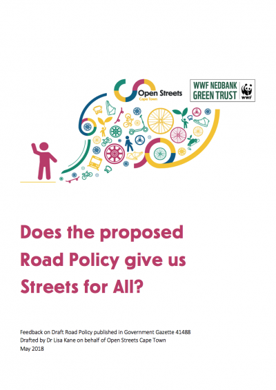 Policy brief: Does the proposed Roads Policy give us Streets for All?
